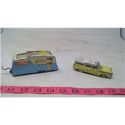 STATION WAGON AND CAMPER-DINKY TOYS