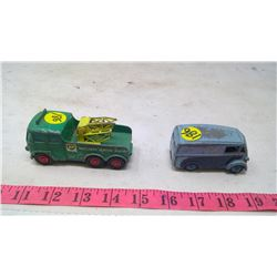 TOY TRUCK AND DELIVERY VAN- MATCHBOX & DINKY
