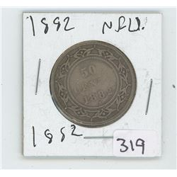 1882 NFLD CANADIAN 50 CENT