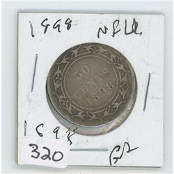 1898 NFLD CANADIAN 50 CENT