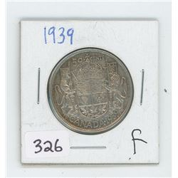 1939F CANADIAN 50 CENT