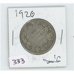 1920 CANADIAN 50 CENT