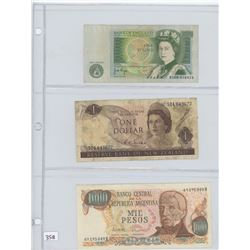6- ASSORTED BANK NOTES