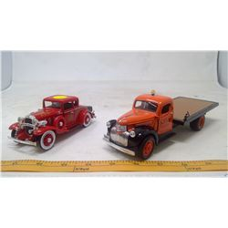1941 Chevy Flatbed & 1932 Chevy Roadster Model Cars