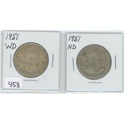 1951WD, 1951ND 50 CENTS