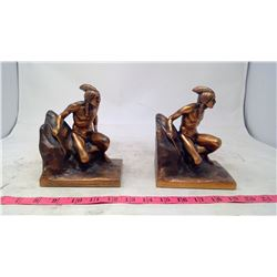 Pair of Copper-Styled book ends