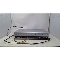 VCR/DVD Player w/ 2 Boxes of Tapes