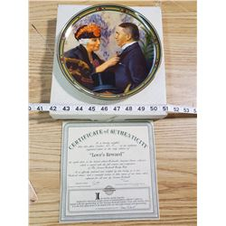 "Collectors plate- Norman Rockwell ""Love's Reward"""