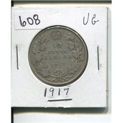 1917 CANADIAN SILVER 50 CENTS