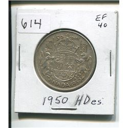 1950 CANADIAN SILVER 50 CENTS
