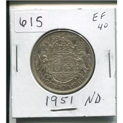 1951 CANADIAN SILVER 50 CENTS