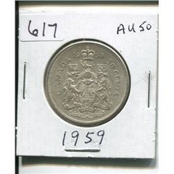 1959 CANADIAN SILVER 50 CENTS