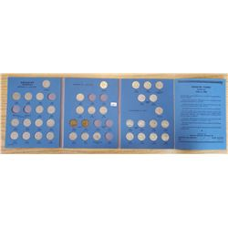 CANADIAN NICKLE BLUE WHITMAN FOLDER WITH COINS