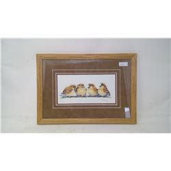"""SPARROWS PICTURE (15""""x11"""") CANADIAN ARTIST V. PFEIFFER"""