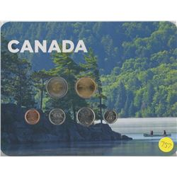 Canoe Coin Collector Card 2010 (6 coins)