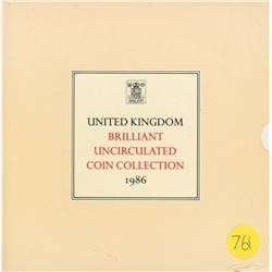 United Kingdom Brilliant Uncirculated Set 1986