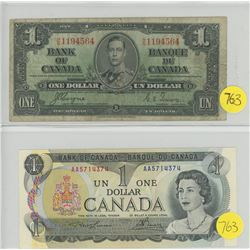 1937 & 1973 One Dollar Bills