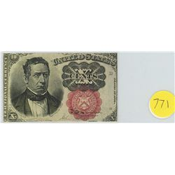 United States fractional note - 10 Cents 1874