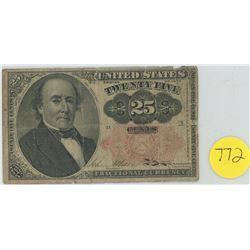 United States fractional note - 25 cents 1874