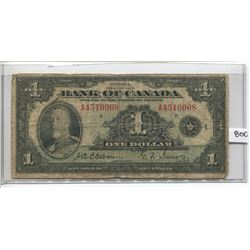 BANK OF CANADA ONE DOLLAR NOTE