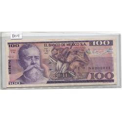 ONE HUNDRED PESO - MEXICO NOTE