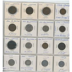 PAGE OF ASSORTED COINS IN 2x2'S