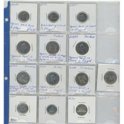 VARIETY COINS IN PLASTIC PAGE (13)