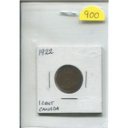 1922 Canada One Cent