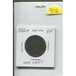 1882 H OBV-1a Queen Victoria One Cent
