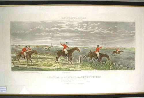 A PAIR OF FRAMED FOX HUNTING PRINTS