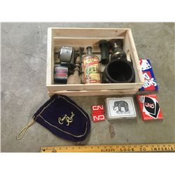 WOODEN CRATE WITH MISC
