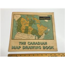 UNUSED DOMINION OF CANADA CANADIAN MAP DRAWING BOOK SCRIBBLER
