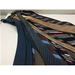 LOT OF VINTAGE TIES AND RETAIL HANGERS
