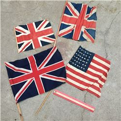 OLD FLAGS BRITISH AND AMERICAN