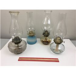 VARIOUS LOT OF OIL LAMPS