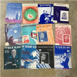 LOT OF VINTAGE SHEET MUSIC