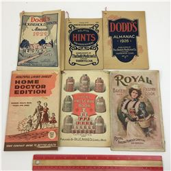 LOT OF OLD ALMANACS ETC