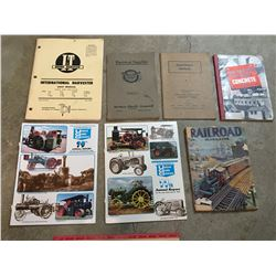 PAPER BOOK LOT TRADES RAILROAD UGG TRACTORS