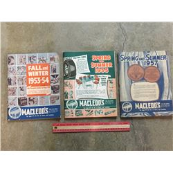LOT OF 3 1950s MACLEODS CATALOGS