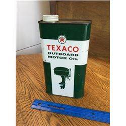 TEXACO 1 QUART OUTBOARD MOTOR OIL CAN