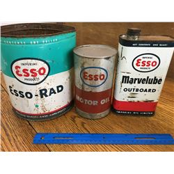 LOT OF ESSO OIL RELATED CANS