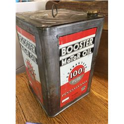 1936 5 GALLON BOOSTER MOTOR OIL CAN