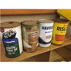 LOT OF 1 QUART OIL CANS