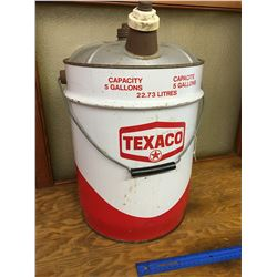 5 GALLON TEXACO OIL PAIL