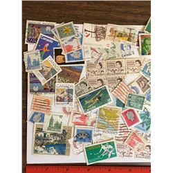 LOT OF VINTAGE USED CANADIAN POSTAGE STAMPS