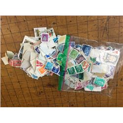 LOT OF USED POSTAGE STAMPS
