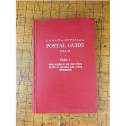 1952-53 CANADA OFFICIAL POSTAL GUIDE POST OFFICE REGULATIONS