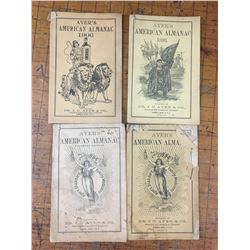 1890s and 1906 LOT OF AYERS ALMANCS ONE HAS PRINCE ALBERT, N.W.T DEALER