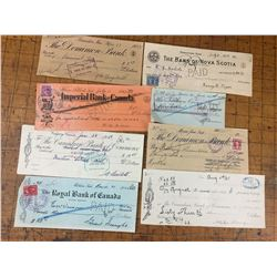 LOT OF OLD CANCELLED CHEQUES
