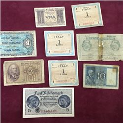 LOT OF WW2 WORLD BANKNOTES
